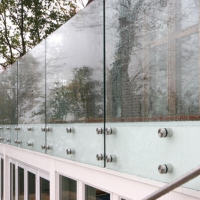 barandas de cristal de seguridad templado para terrazas escaleras interiores piscinas y otros herrajes de acero inoxidable con opcin de pasamanos